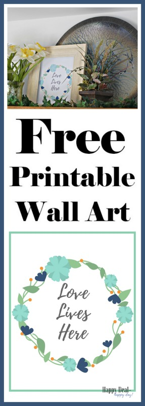Free printable wall art - 4 styles to choose from!  Download, print, and frame right from home!!  #freeprintable #wallart #freeprintablewallart #loveliveshere #catlovers #home