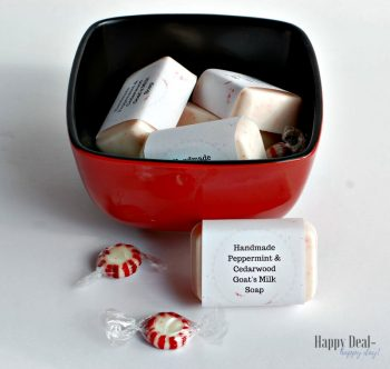Peppermint & Cedarwood Goat's Milk Soap with Free Printable Soap Labels!
