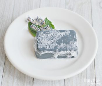 Easy Melt and Pour Soap Recipes:  DIY Charcoal and Clay Facial Bar Soap with Essential Oils
