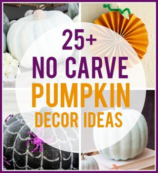 25+ No Carve Pumpkin Decor Ideas