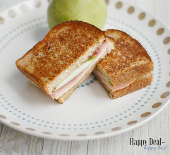 Easy Frugal Recipe | Ham and Cheese Melt with Pear & Pepper Jelly!