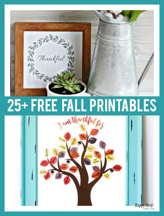 Free Fall Printables for the Home