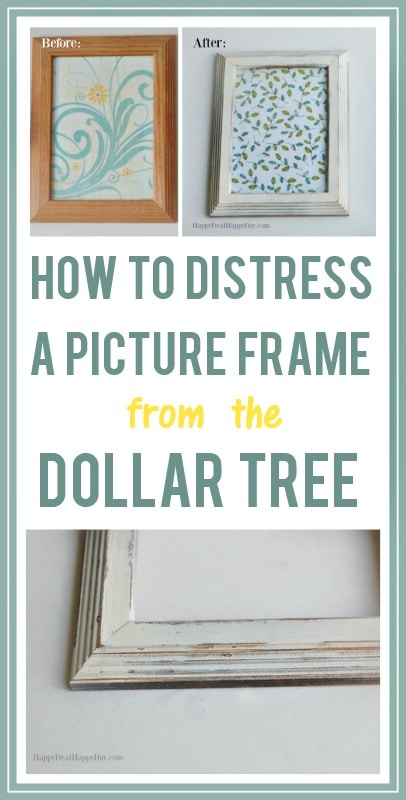 How to Distress A Picture Frame