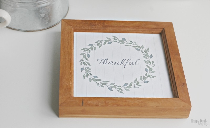 thankful fall printable wall art framed