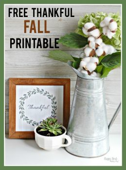 "Free Printable Wall Art – ""Thankful"" Fall Printable"