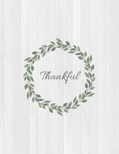 thankful fall printable wall art - free 8x10 thankful surrounded by leaf wreath