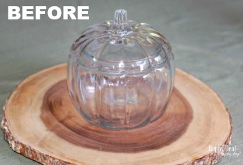 Glass Pumpkin Thrift Store Makeover Decor