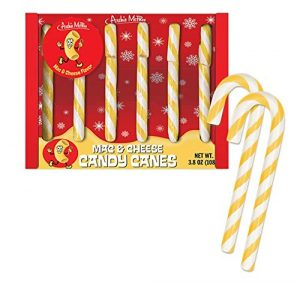 white elephant gift mac n cheese candy canes