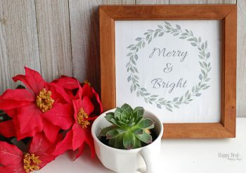 "Free Printable Christmas Wall Art For Your Home – ""Merry & Bright"" Christmas Printable"