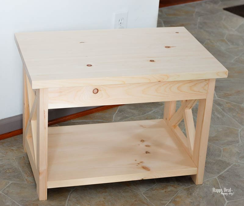 How To Stain Wood: Tips for Beginners - end table before
