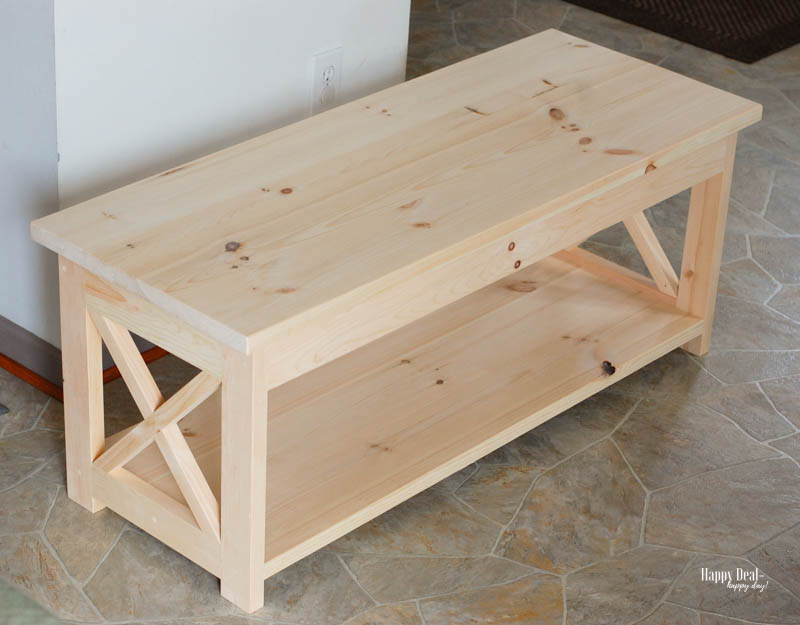 How To Stain Wood: Tips for Beginners - coffee table before
