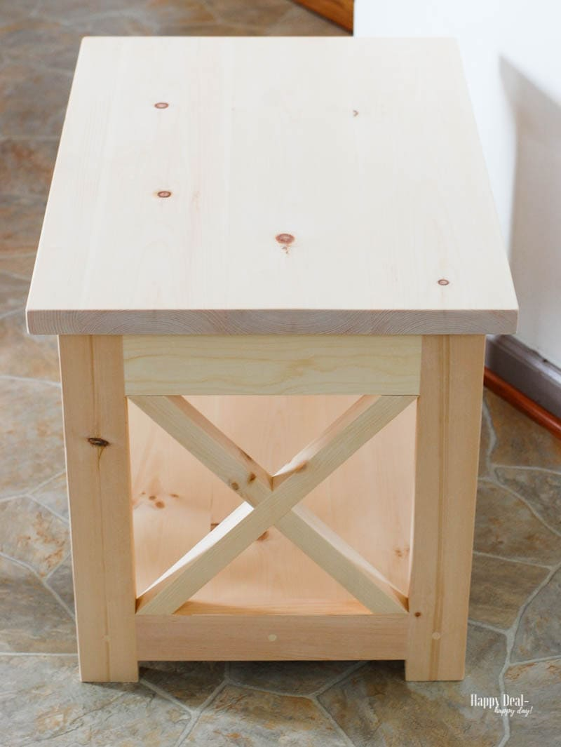 "Staining Wood DIY - end table ""before"""