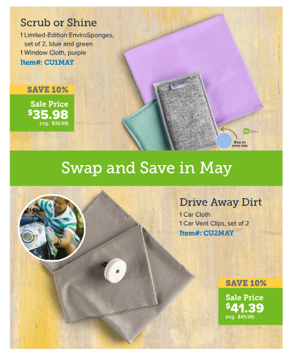 Norwex Tips:  What's on Sale in May!