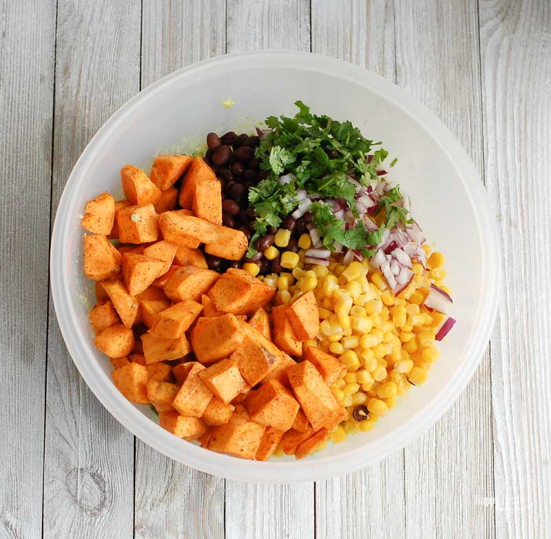 Sweet Potato Black Bean Dip ingredients