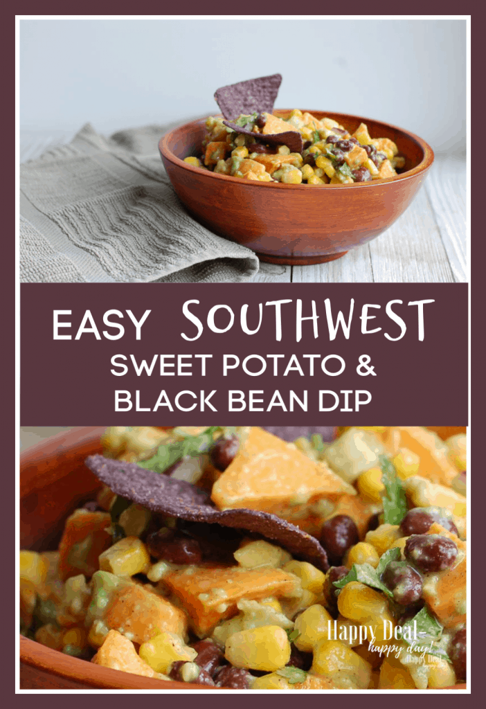 Easy Southwest Sweet Potato & Black Bean Dip