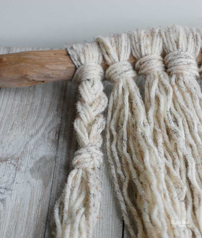 Simple Yarn Wall Hanging Tutorial - braids