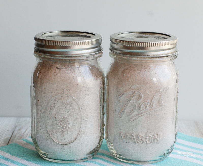 Chocolate Mug Cake in mason jar storage