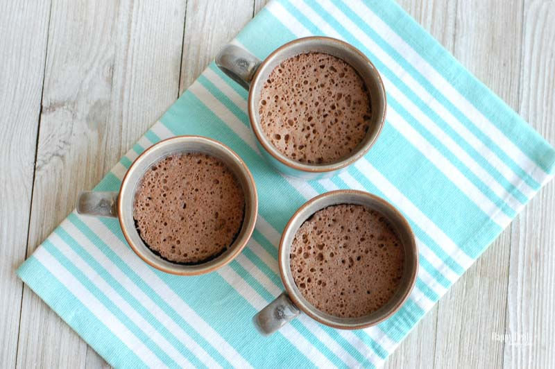 Chocolate Mug Cake after its cooked
