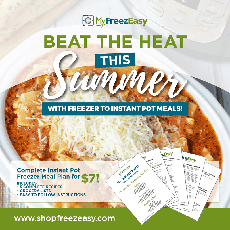 summer freezer meal recipes with freezer to instant pot meals