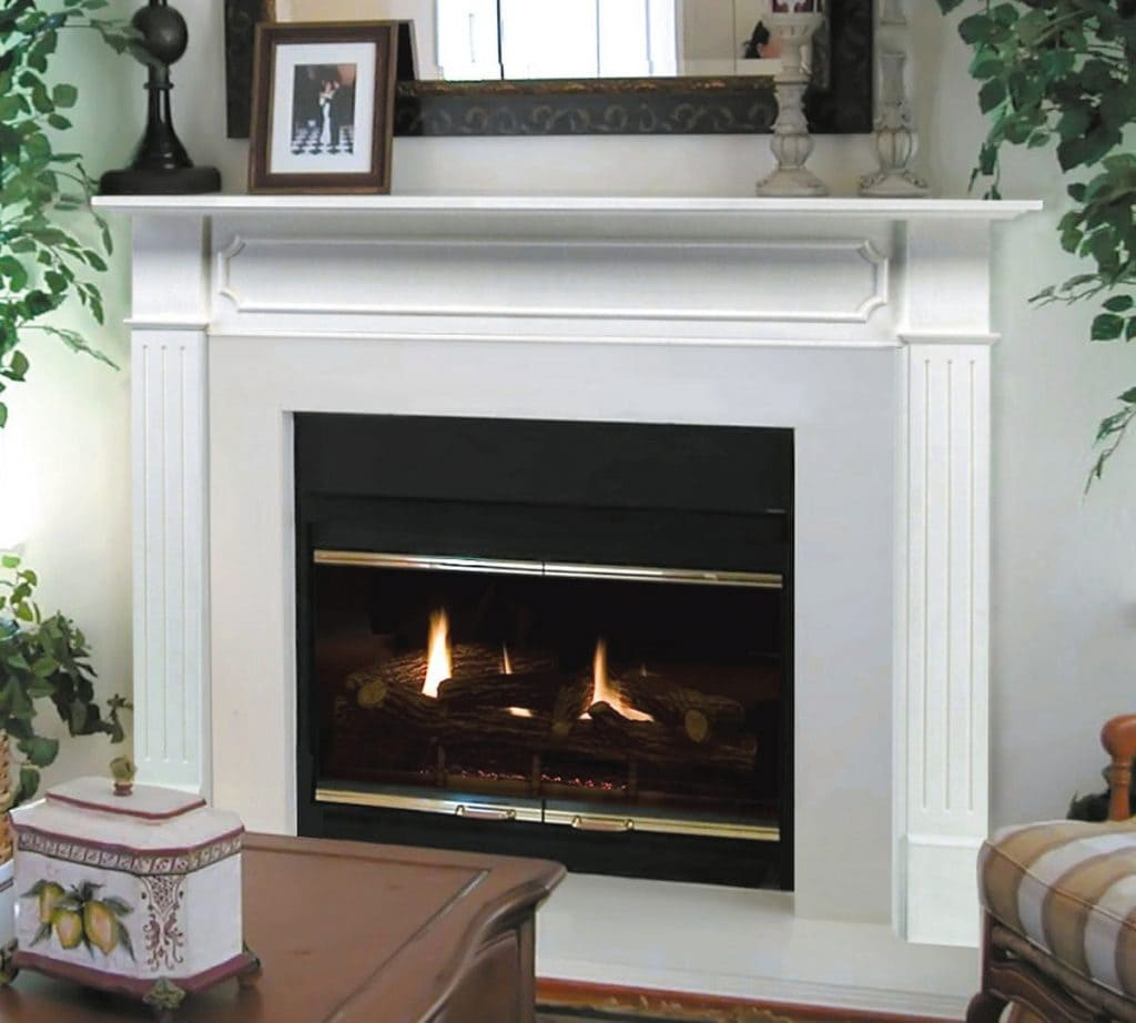 Timeless Home Decor fireplace and mantel