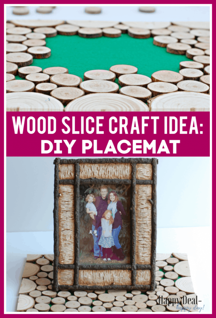 wood slice craft idea:  diy placemat