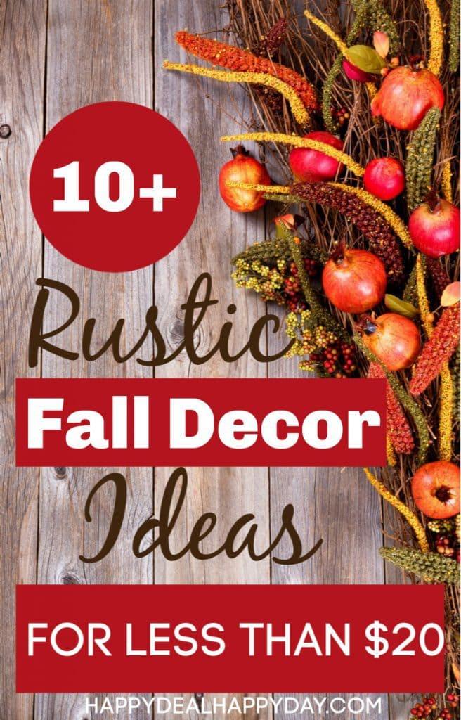 Rustic fall decor ideas