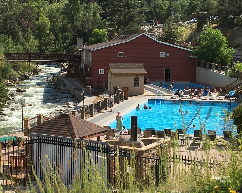 natural heated pools at Mt Princeton hot springs resort colorado