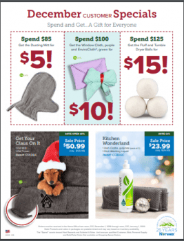 Norwex Tips:  What's on Sale in December!
