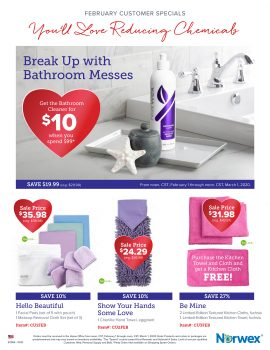 Norwex Tips:  What's on Sale in February!