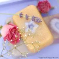 Easy Homemade Gift Ideas - lavender and rose soap