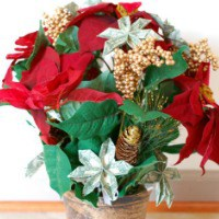 Easy Homemade Gift Ideas origami money flower poinsettia