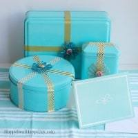 Easy Homemade Gift Ideas - repurposed cookie tins