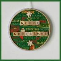 Easy Homemade Gift Ideas - scrabble tile christmas wall hanging
