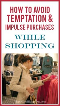 How To Stop Impulse Purchases & Avoid Retail Temptation While Shopping