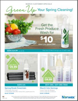 Norwex Tips:  What's on Sale in April!