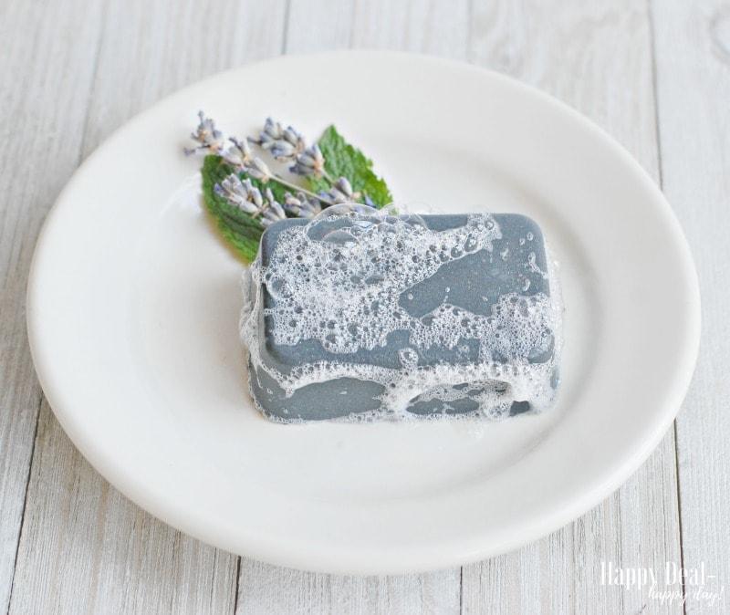 DIY Christmas Gift Idea - Charcoal Facial Soap