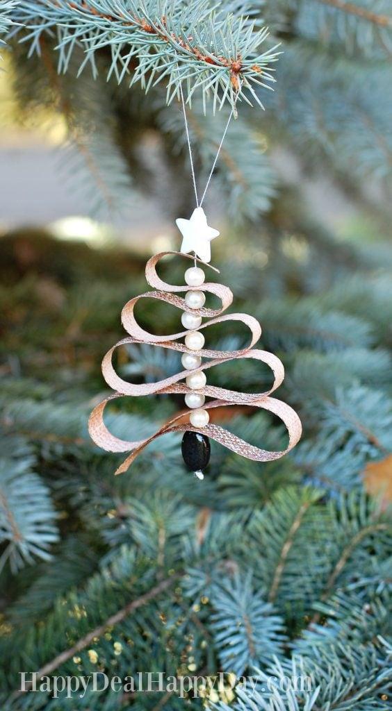 DIY Christmas Gift Idea Essential Oil Ribbon Tree Ornament