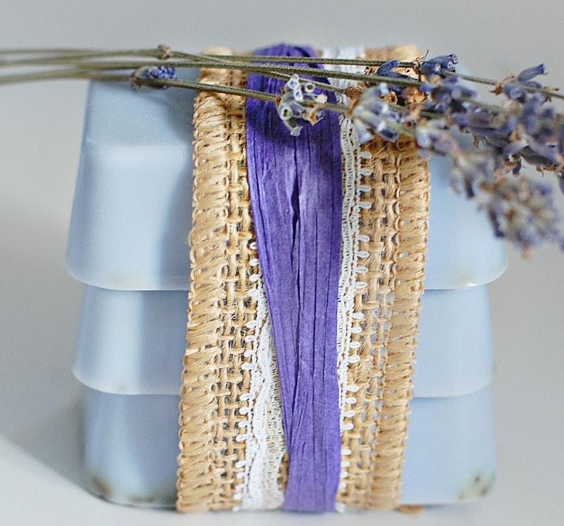 homemade lavender soap DIY Christmas gift idea