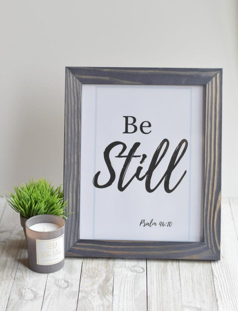"""Be Still"" printable wall art"