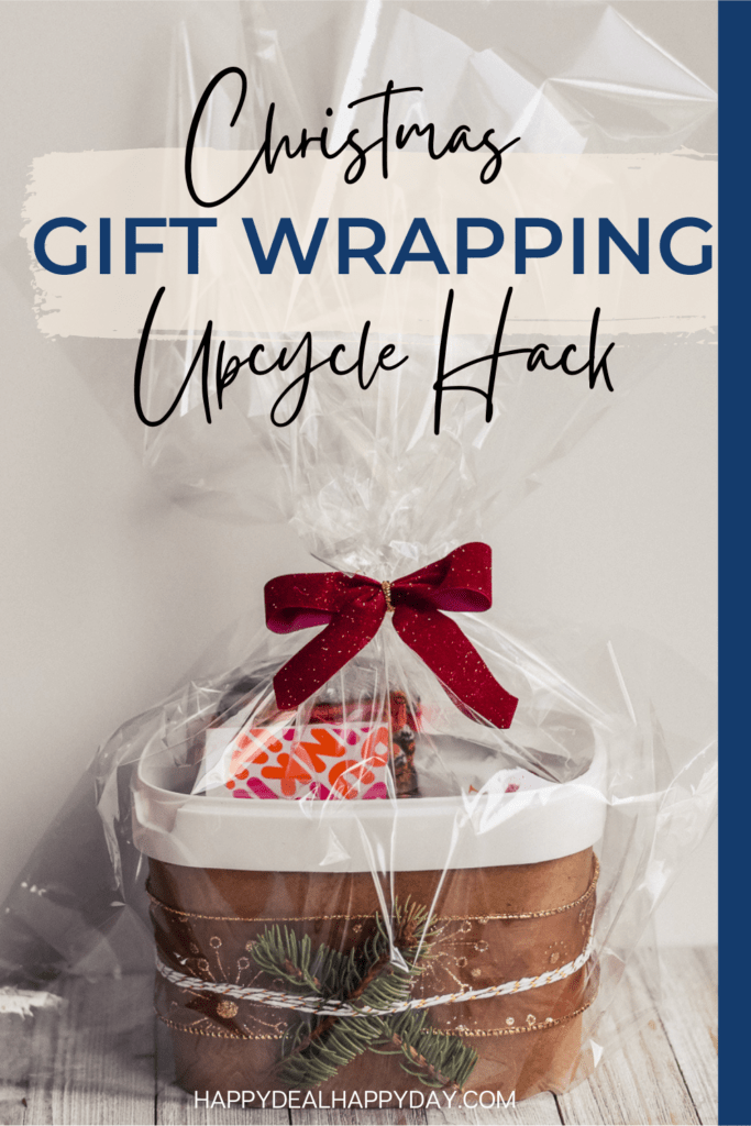How to turn an Oxiclean tub into a Christmas gift wrapping idea