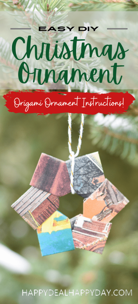 origami wreath ornament instructions