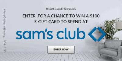 Sam's Club $2900 In Instant Savings Week + $100 Gift Card Giveaway!  #SamsClubInstantSavings