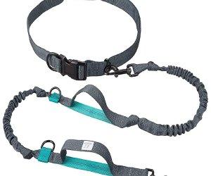 Hands-Free, Heavy-duty, safety dog running waist leash