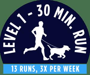 Level 1 - 30 minute running package - 13 Runs, 3x per week