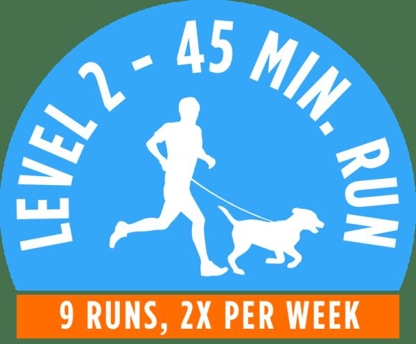 Level 2 - 45 minute running package - 9 Runs, 2x per week