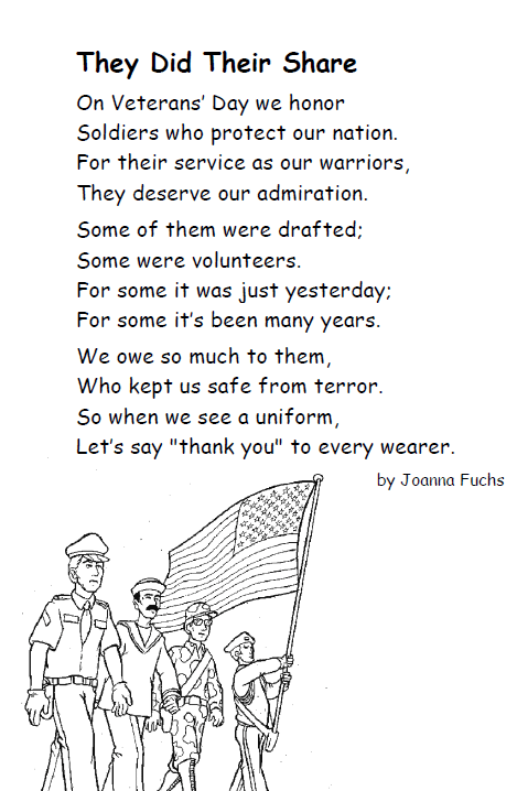 Veterans Day Poems Quotes