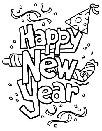Happy New Year 2019 Coloring Sheets