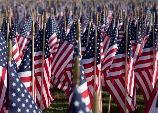 Happy Memorial Day Flags
