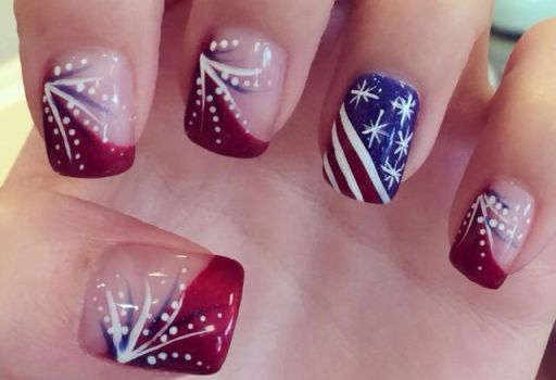 Happy Fourth of July Nail Art