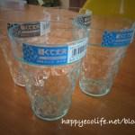 日本製で安心!Seriaのガラス風プラスチックカップ